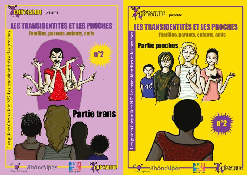"""Brochure """"Les transidentités et les proches"""", guide Chrysalide n°2 L005"""